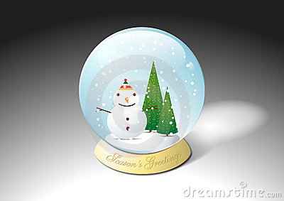Christmas crystal water snowball