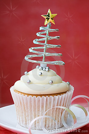 Free Christmas Cupcake Royalty Free Stock Photography - 11335967