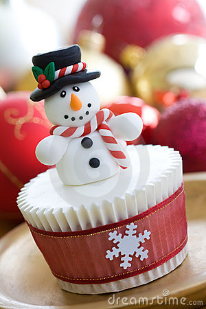 Free Christmas Cupcake Royalty Free Stock Photos - 11766808