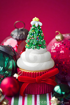 Free Christmas Cupcake Stock Images - 22218034