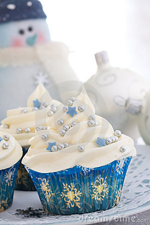 Free Christmas Cupcakes Stock Photo - 11142410