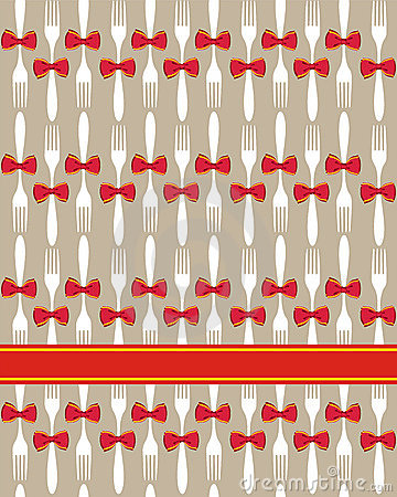 Christmas cutlery seamless pattern background