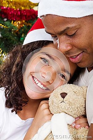 Free Christmas Dad Girl Royalty Free Stock Photography - 16646247