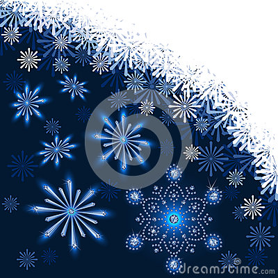Christmas dark blue background