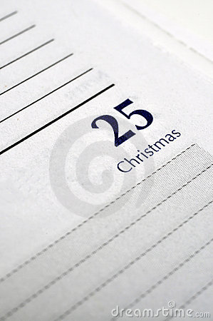 Christmas Day on Personal Planner