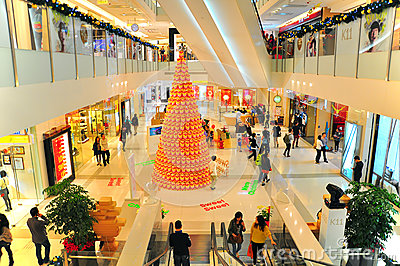 Christmas decor at K11 mall, hong kong Editorial Image