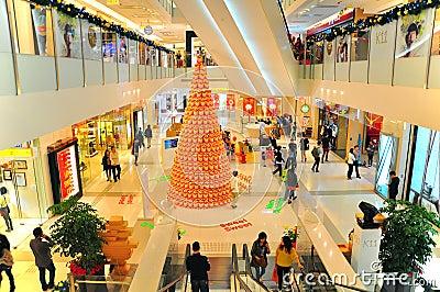 Christmas decor at K11 mall, hong kong