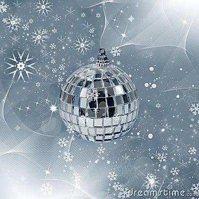 Christmas decor - reflected ball