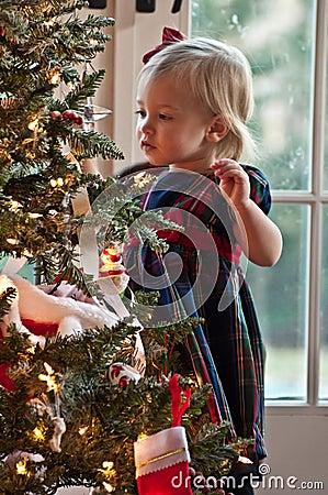 Christmas decorating tree