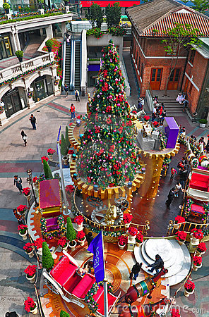 Christmas decoration at 1881 complex in hong kong Editorial Stock Image