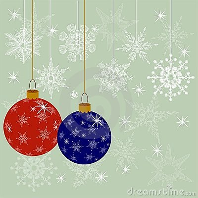 Christmas decoration ball in vector