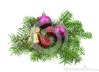 Christmas decoration with bell and ball