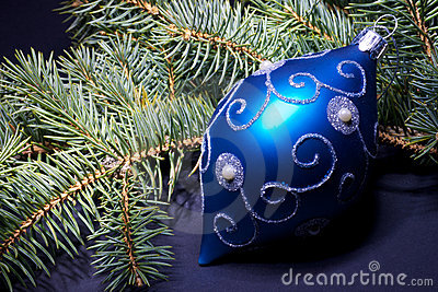 Christmas decoration blue