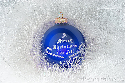 Christmas decoration and blue ball