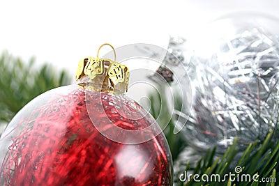 Christmas decoration bubbles