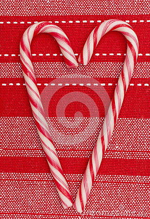 Christmas decoration candy canes heart shape