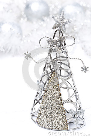 Christmas decoration - Christmas tree made ​​of metal