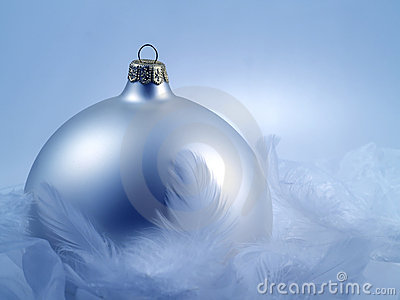 Christmas decoration with cold, wintery feel