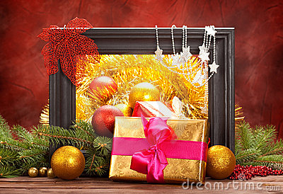 Christmas decoration - gifts and balls