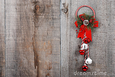 Christmas decoration hanging on wood