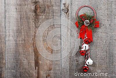 Christmas decoration hanging on wood