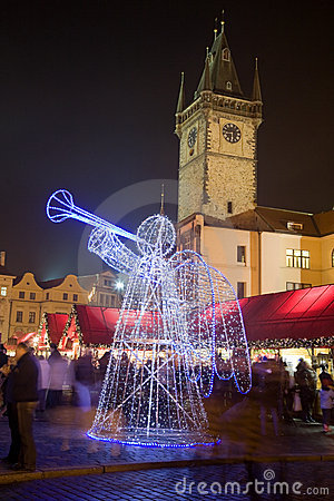 Free Christmas Decoration In Prague Stock Photos - 7411703