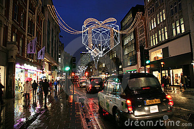 Christmas Decoration in London Editorial Image