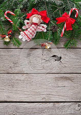 Free Christmas Decoration, Ornaments And Garland Frame Background Royalty Free Stock Photography - 100972647