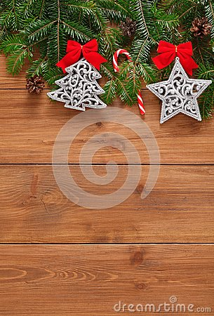 Free Christmas Decoration, Ornaments And Garland Frame Background Stock Images - 103711864