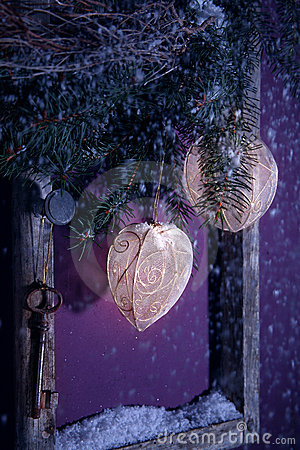 Christmas decoration purple