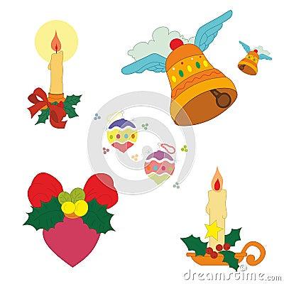Christmas decoration set vector Vector Illustration