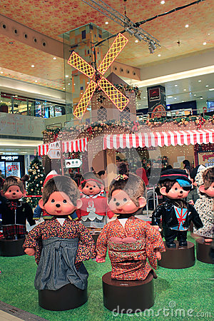 Christmas decoration in shopping mall Editorial Stock Photo
