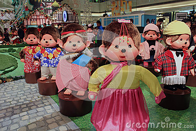 Christmas decoration in shopping mall Editorial Stock Image