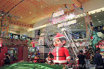 Christmas decoration in shopping mall Editorial Photography