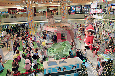 Christmas decoration in shopping mall Editorial Photo