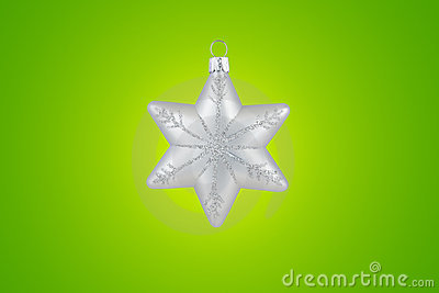 Christmas decoration silver snowflake