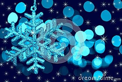 Christmas decoration snowflake  on defocused