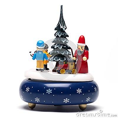 Christmas decoration on white