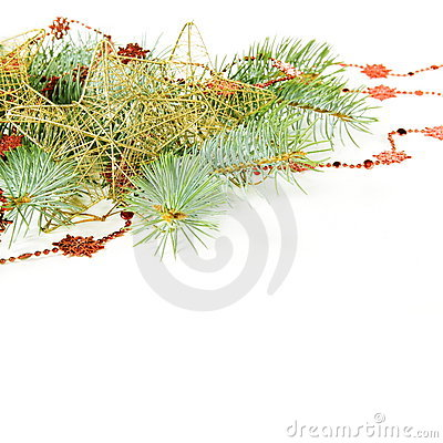 Christmas Decorations Border with Stars