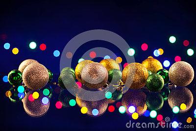 Christmas decorations bulb and lights