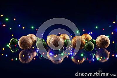 Christmas decorations bulb and lights