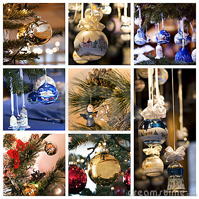 Free Christmas Decorations Collage Royalty Free Stock Image - 15858576