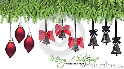 Christmas decorations design elements