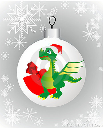 Christmas decorations and the Dragon