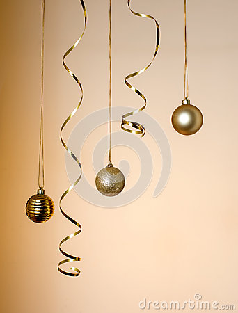 Christmas decorations hanging