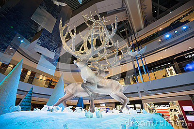 Christmas decorations in ifc mall, Hong Kong Editorial Photo