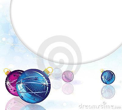Christmas decorations on a mirrored background