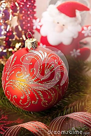 Christmas decorations and Santa Claus