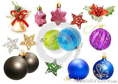 Christmas decorations set