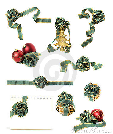 Christmas decorations set isolated